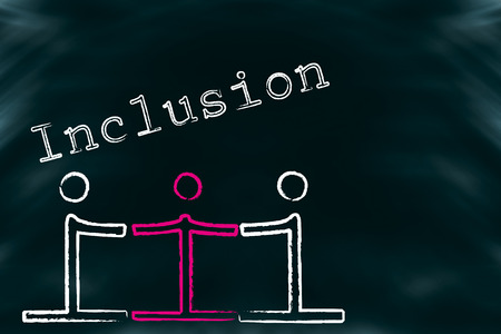 disadvantaged: Symbolic drawing for the inclusion of People with handicaps in the society