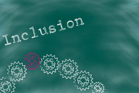 underprivileged: Disegno simbolico per l'inclusione delle persone con handicap nella societ�