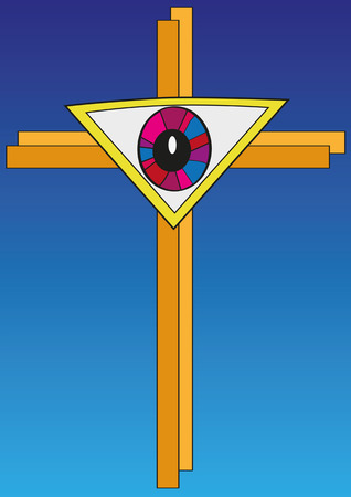 The Eye In The Form Of A Triangle With Cross Symbol For The