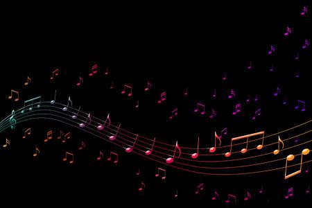 음자리표 및 노래에 대 한 상징으로 음악 추상 그림 스톡 콘텐츠