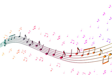 Abstract illustration with clef and music as a symbol for songs