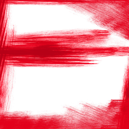 textured effect: A red textured effect with oscillating brushes