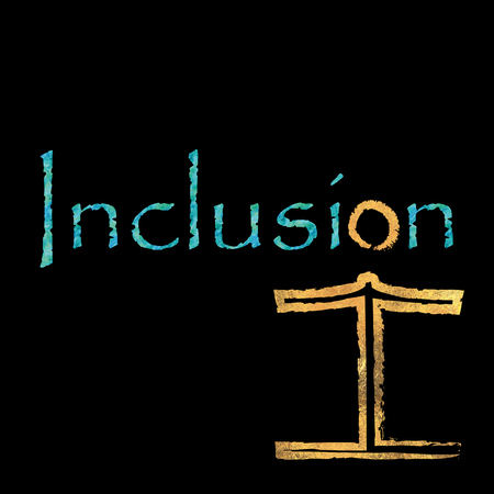 underprivileged: The word inclusion with an included figure