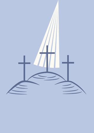 calvary: Three crosses on the calvary