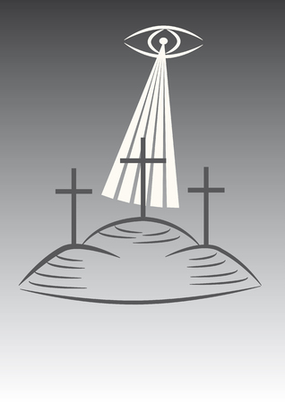 christian crosses: Three crosses on the calvary