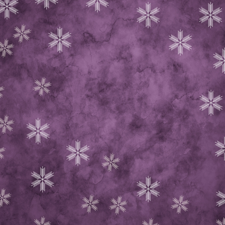 Abstract snowflakes in front of a purpel background. Symbol for icy cold winter