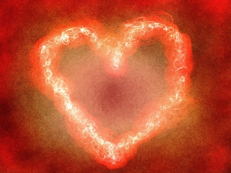 A burning heart as a symbol for passion Stock Photo
