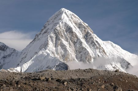 the summit of makalu, nepal. photo