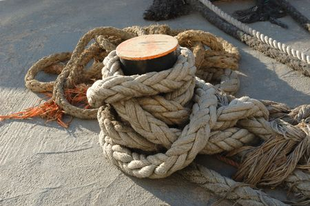anchor and ropes Stock Photo