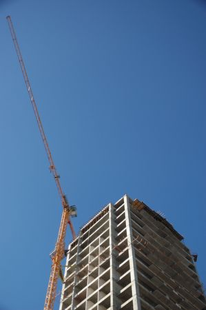 construction of an apartment house photo
