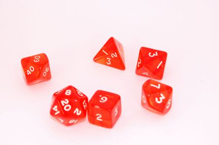 FRP(Fantastic Roleplay dices on the white ground