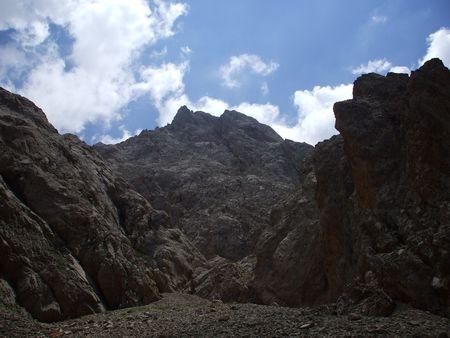 good mountains and clouds super landscape on aladaglar
