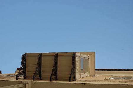 lattice window: Old Panjours And Balcony