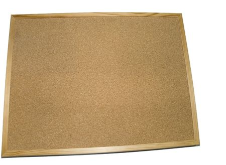 Empty cork board isolated on white background  Stock Photo - 9679653