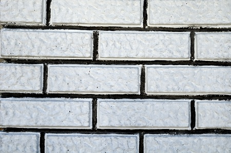 brick kiln: White brick on the wall