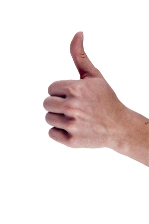 Thumbs Up male hands, isolated on white. Stock Photo - 11933748