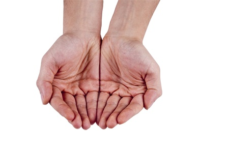 Open Palm  Young Male Hands Stock Photo - 11933754