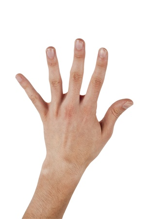 Human hand make a number five on isolated background Stock Photo - 11933753