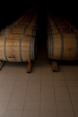 Wine Barrel at Wine Cellar in the factory Stock Photo - 12082097