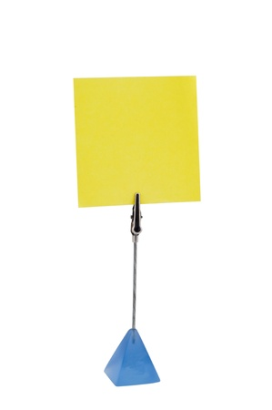 Yellow papers in paper holders  using by for memo