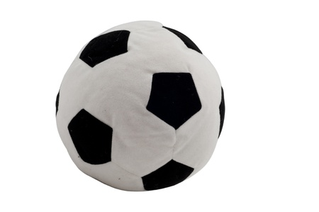 Wool Football  Ball Toy on isolated white background
