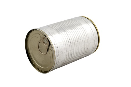 Cylinder Can Box on isolated white bacgkround photo