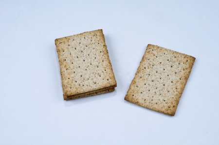 Diet crackers on the white background Stock Photo