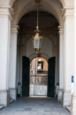 reale: Entreance the Palazzo Reale   in Genoa italy