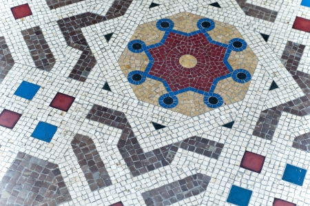 different shape of arc on the ground mosaic milano italy