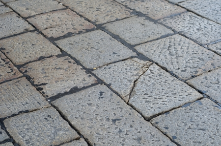 Big Granite Stones Texture on the ground Stock Photo