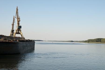 Crossing the leg of Danube delta in macin Romania