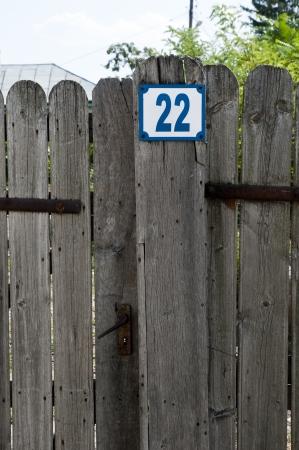 Wooden fence of garden in macin romania Stock Photo - 17266688