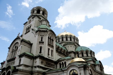 Old Orthodox Cathedral in sofia bulgaria Stock Photo