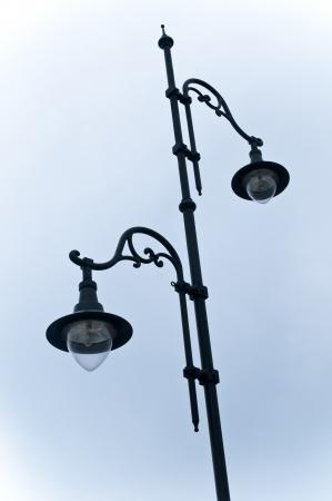 Nostalgia Lamp post on the sky in nesebar bulgaria