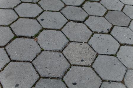 Hexagonal Stone ground using by pattern