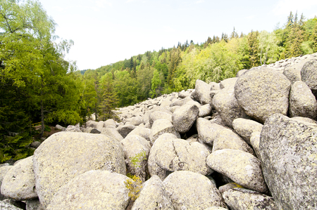 granite park: Stone River Big Granite Stones on Rocky River Vitosha National Park ,Bulgaria