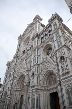 firenze: Old Battistero building center of firenze in italy Stock Photo