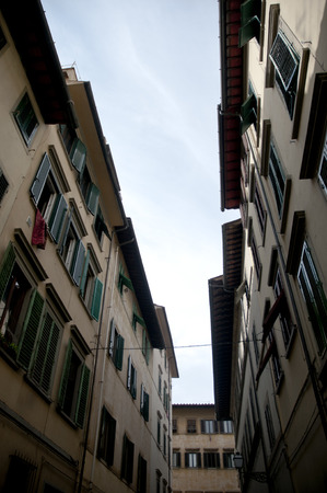 firenze: Old narrow streets and building Firenze,italy Stock Photo