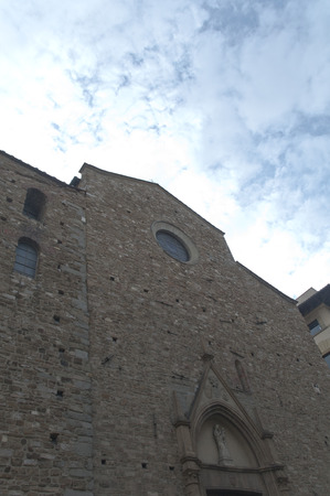 firenze: Stone building down view in Firenze centrum italy