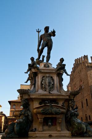 piazza: Statue of Neptune, Piazza Maggiore, Bologna, Italy