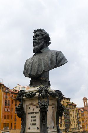 Bust of Benvenuto Cellini, Florence, Italy by Raffaeallo