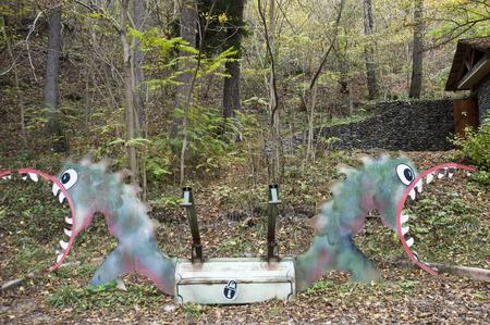 Old style coloful metal toys  Park Borjomi ,Georgia