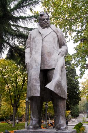 Giorgi Leonidze Statue in Park of the Tbilisi  Famous Georgian Poet in Georgia
