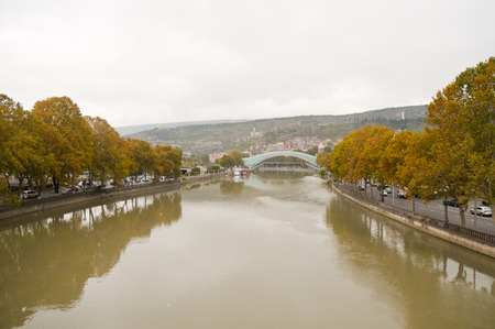 View of  the bridge over Mtkvari (Kura) River,Tbilisi, Georgia