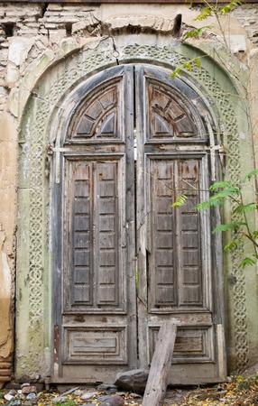 Old Style Wooden Door Church door in Capital city tbilisi ,Georgia