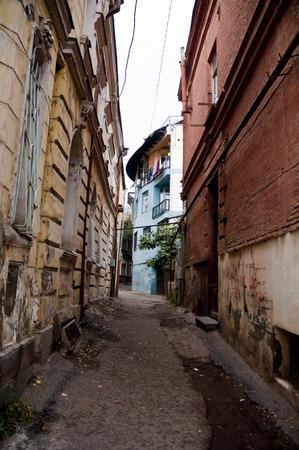 Old streets Capital Of tbilisi Georgia Stock Photo