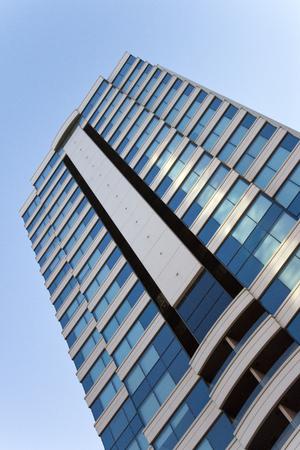 Big Plaza Apartment  Blue Glass windows and highrise   in izmir City center alsancak Turkey Editorial