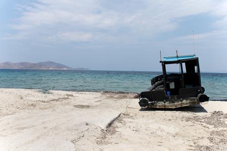 Old Fisherman boat at the bay  kos island ,greece