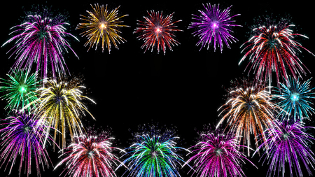 guy fawkes: celebrate fireworks display with sparks Stock Photo