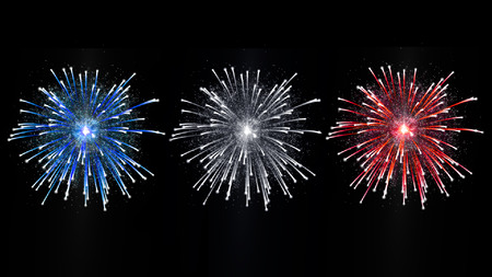 french fireworks celebration day